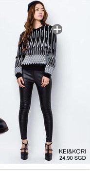KEI&KORI Printed Sweater