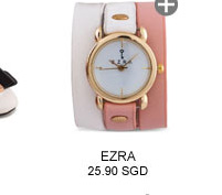 EZRA Dual Tone Triple Tour Wrap Watch