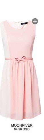 MOONRIVER Side Contract Sleeveless Dress
