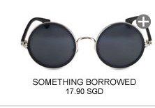 SOMETHING BORROWED Wide Round Sunglasses