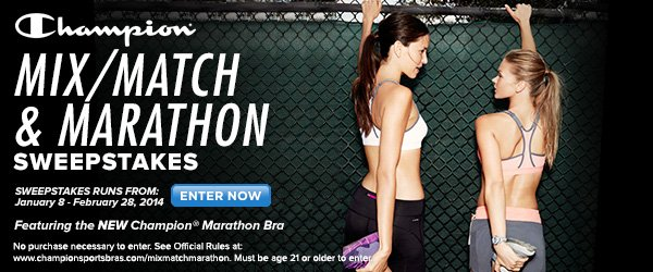 Enter the Champion(R) Mix/Match & Marathon Sweepstakes