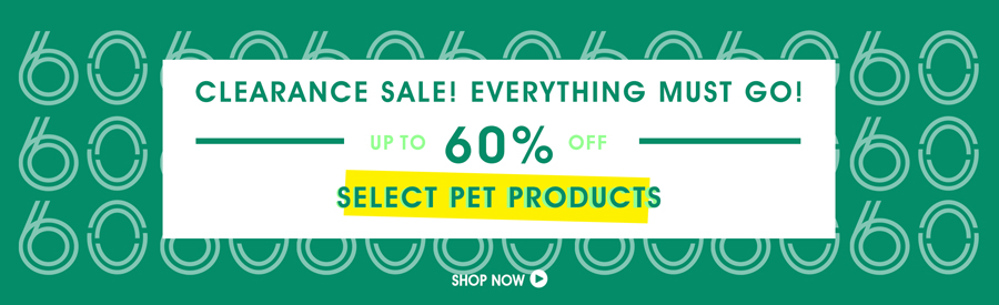 Clearance Sale! 50% Off Select Pet Products