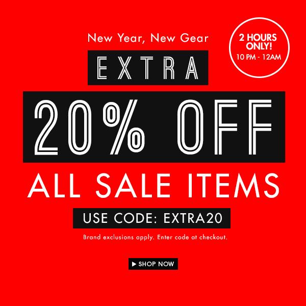 Sale on Sale: Extra 20% off!