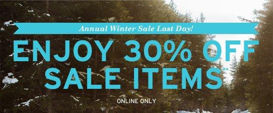 Enjoy 15% off sale items**