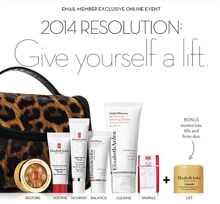 EMAIL MEMBER EXCLUSIVE ONLINE EVENT. 2014 RESOLUTION: Give yourself a lift.