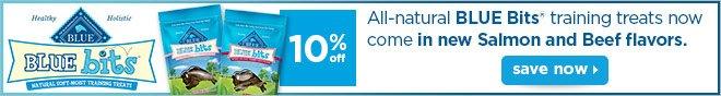 10% off Blue Bits® training treats