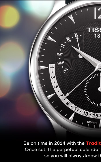 Be on time in 2014 with the Tradition Perpetual Calendar watch.