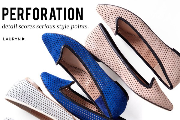 Perforation detail scores serious style points. Shop Lauryn
