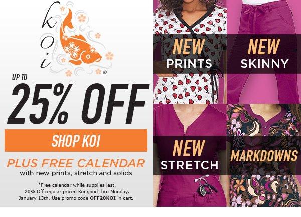 Up to 25% Off Select Koi Styles + Free Calendar - Shop Koi