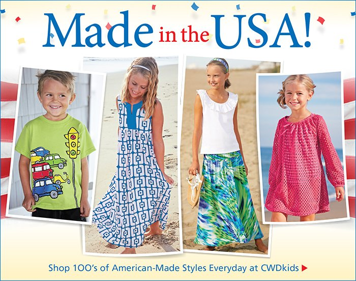 Shop 1OO's of American-Made Styles Everyday at CWDkids