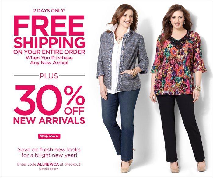 Save on all-new looks!
