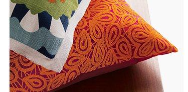 Julian Orange 20in Pillow $47.96 Reg.  $59.95