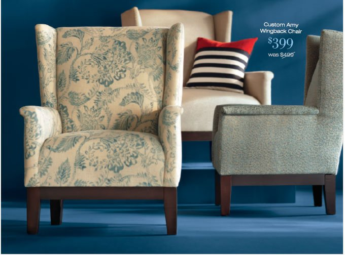 Custom Amy Wingback Chaor | $399 was $499