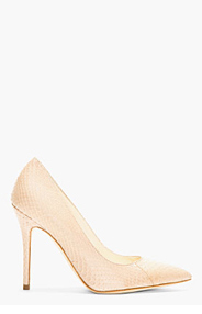 BRIAN ATWOOD Nude Snakeskin Cassandra Pumps for women