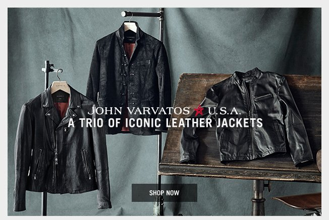 A Trio of Iconic Leather Jackets - Shop Now
