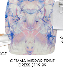 Gemma Mirror Print Dress.