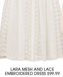 Lara Mesh and Lace Embroidered Dress.