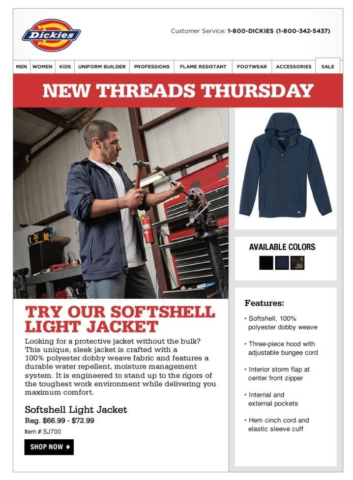New Threads Thursday: Softshell Light Jacket