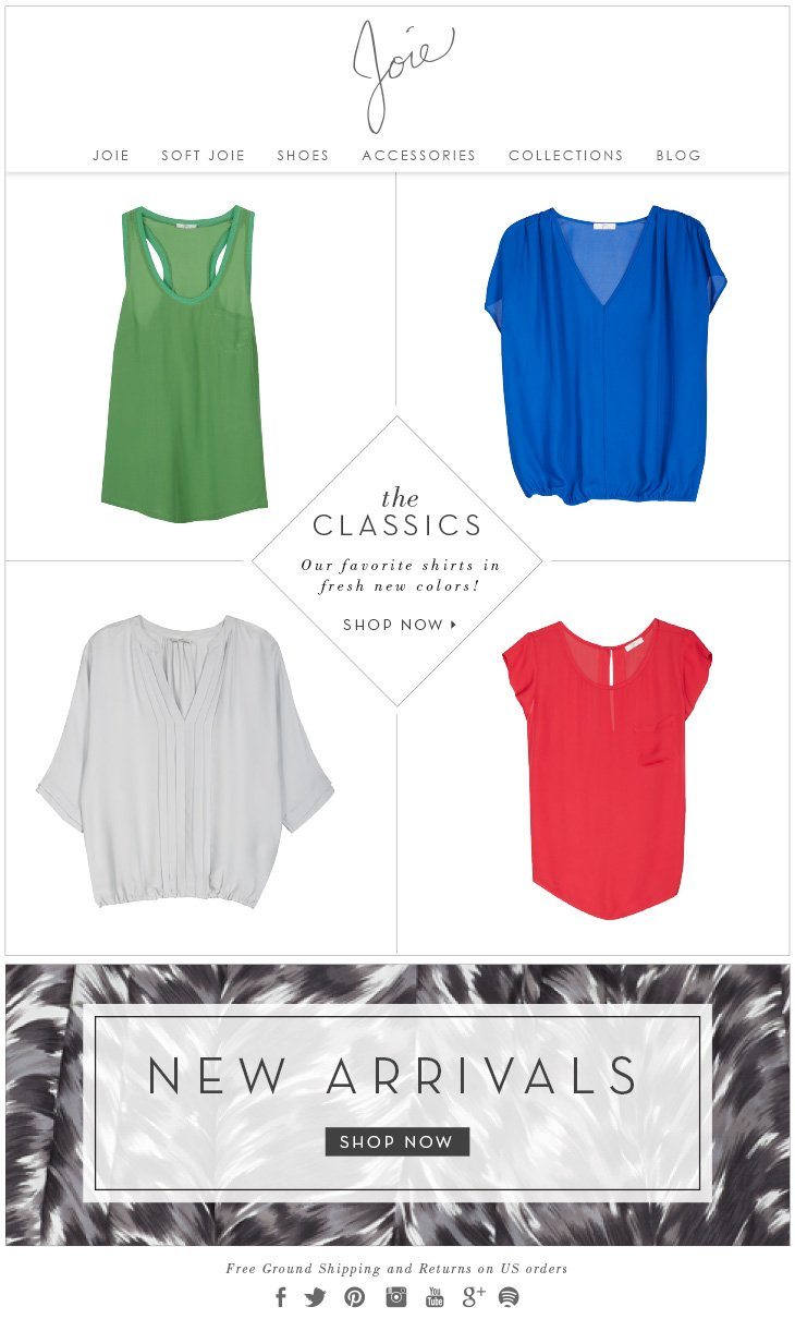 The CLASSICS Our favorite shirts in fresh new colors! SHOP NOW>