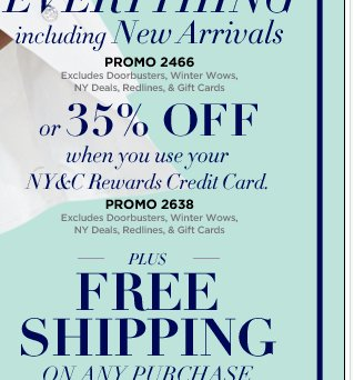 Save 35% with Your NY&C Rewards Credit Card!
