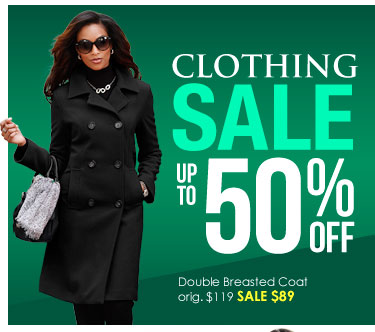 SHOP Up to 50% OFF Clothing SALE!