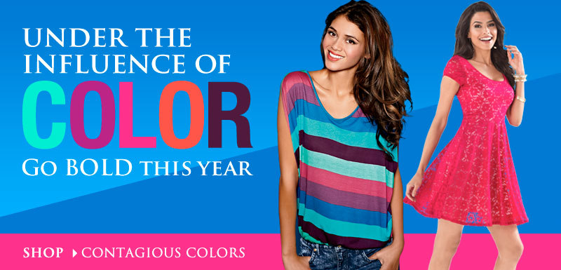 Go BOLD This Year! SHOP Contagious Colors!
