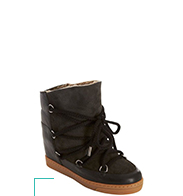 Shearling-lined wedge sneakers