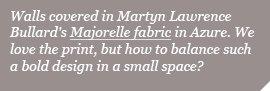 Martyn Lawrence Bullard's Majorelle fabric in Azure