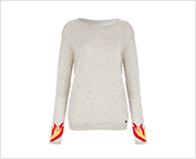 Exclusive Flame Cuff Cashmere Sweater