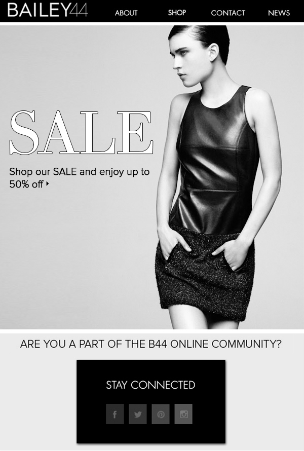 SALE Shop our SALE and enjoy up to 50% off>