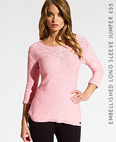 Embellished Long Sleeve Jumper