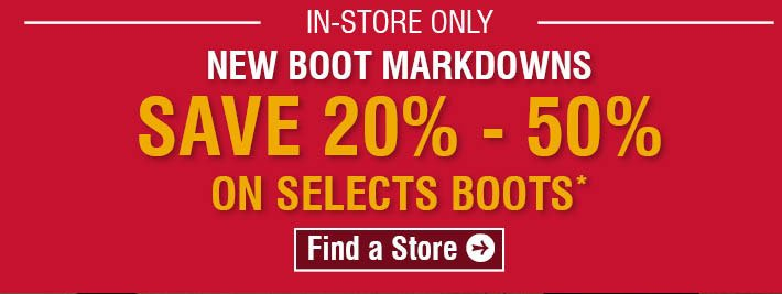 New Boot Markdowns - Save 20% - 50% on Select Boots