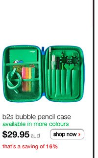 b2s bubble pencil case - available in more colours - $29.95 aud - shop now > - that's a saving of 16%