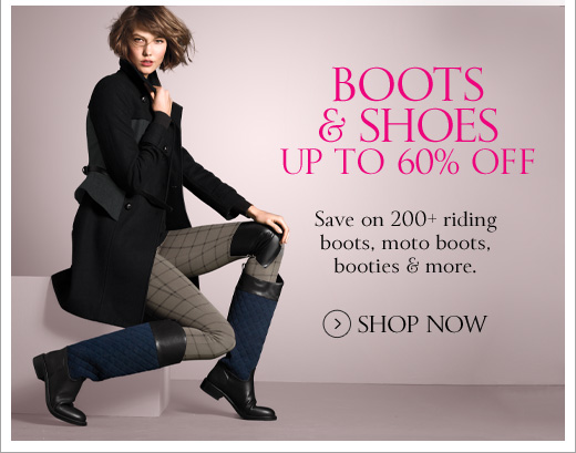 Boots & Shoes Up to 60%  Off