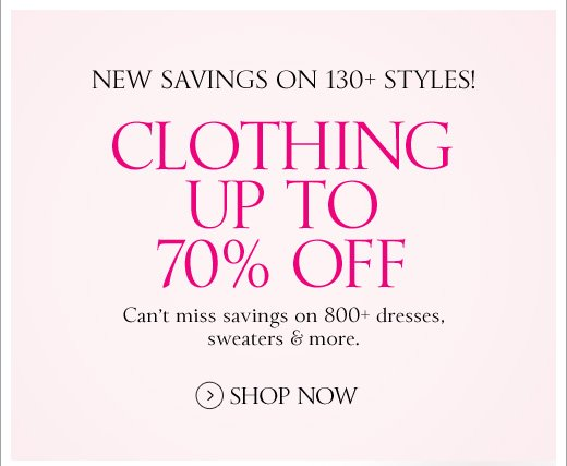 Clothing Up To 70% Off
