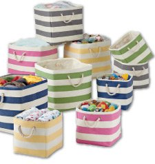 15% off bins and baskets.