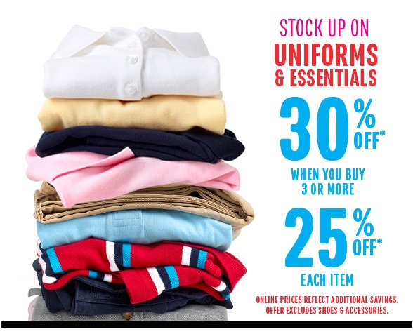 30% Off Uniforms!