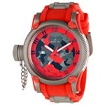 Invicta 11336 Men's Russian Diver Lefty Grey & Red Camouflage Dial Red Rubber Strap Watch