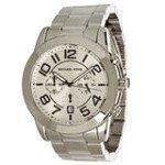 Michael Kors MK8290 Men's Mercer Silver Dial Stainless Steel Chronograph Watch