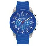 Caravelle 43A121 Mens New York Chrono Blue Dial Blue Rubber Strap Watch