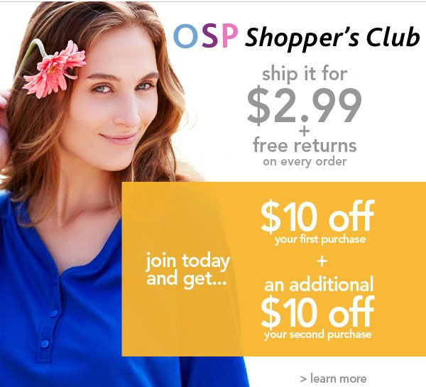 Join OSP Shoppers CLub