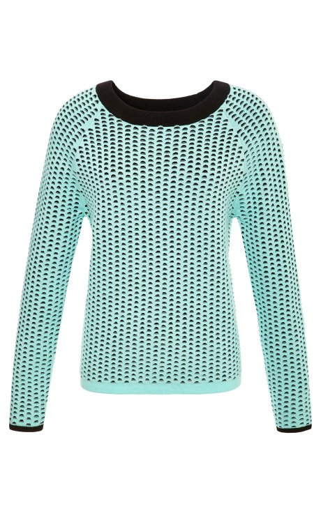 Double Layer Open Hole Cropped Pullover