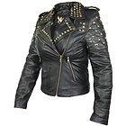 Xelement Womens Classic Leather Rebel Stud Jacket