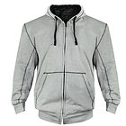 Xelement Mens Heather Grey Armored Hoodie