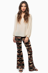 Aztec Flare Bottom Pants 33