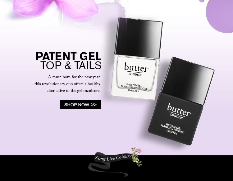 Make that mani last with butter LONDON Patent Gel!