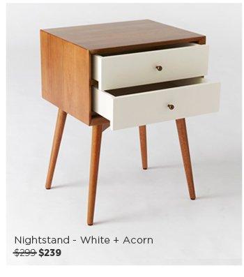 Nighstand - White + Acorn