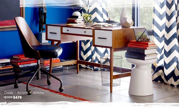 Desk - Acorn + White