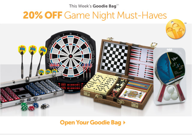 This Week's Goodie Bag - 20% OFF Top 15 Game Night Necessities - Open Your Goodie Bag