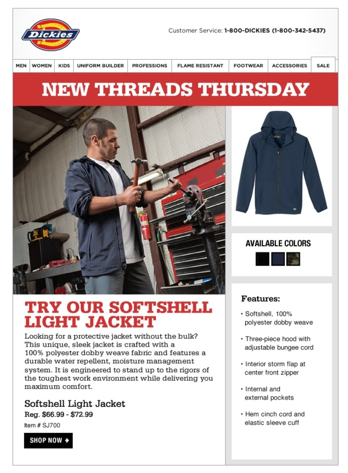 New Threads Thursday: Softshell Light Jacket